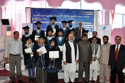 Graduated teachers with Deputy Minister of Education